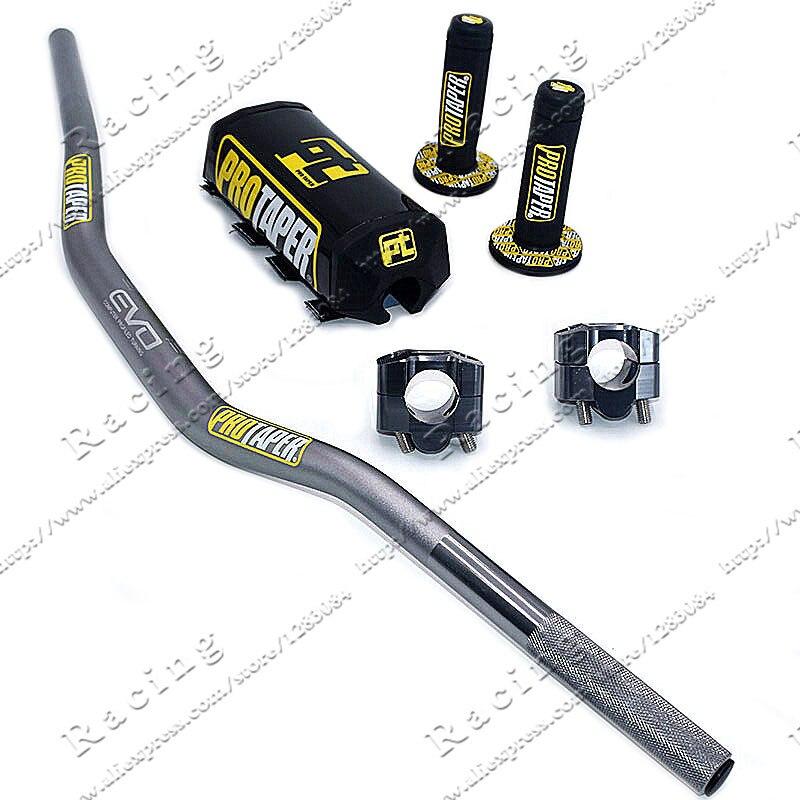 Grey Black Handlebar Pads Handlebar Clamp Bar 1 1/8 Pit Bike Motocross Motorcycle Handlebar PRO Taper Handle Grips