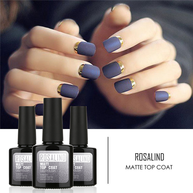Rosalind 10ml 1pcs Matt Top Coat Nail Art Uv Gel Polish Matte