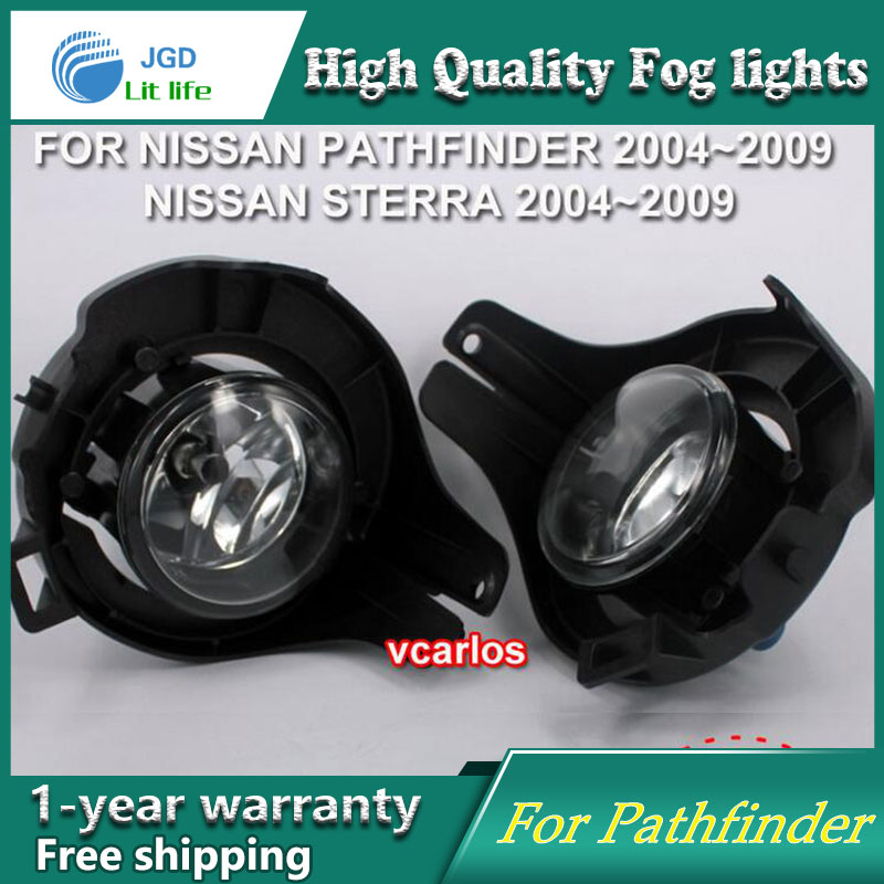 цена на 2PCS / Pair Halogen Fog Light For Nissan Pathfinder 2004-2009 High Power Halogen Fog Lamp Auto DRL Lighting Halogen Headlamp