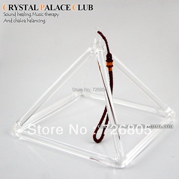 3 inches crystal singing pyramid for energy healing & quartz