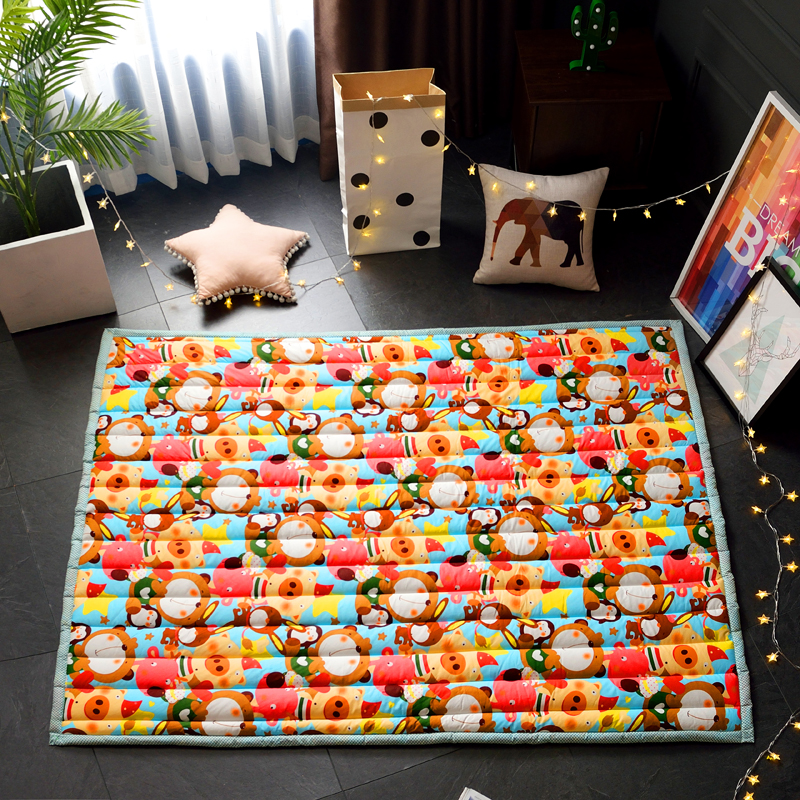 Infant Shining Playmat for Baby to Crawling Puzzle Mat 2cm Thickness Soft Cotton Rug for Children 55x73In детский дартс battlefield soft 7 2cm