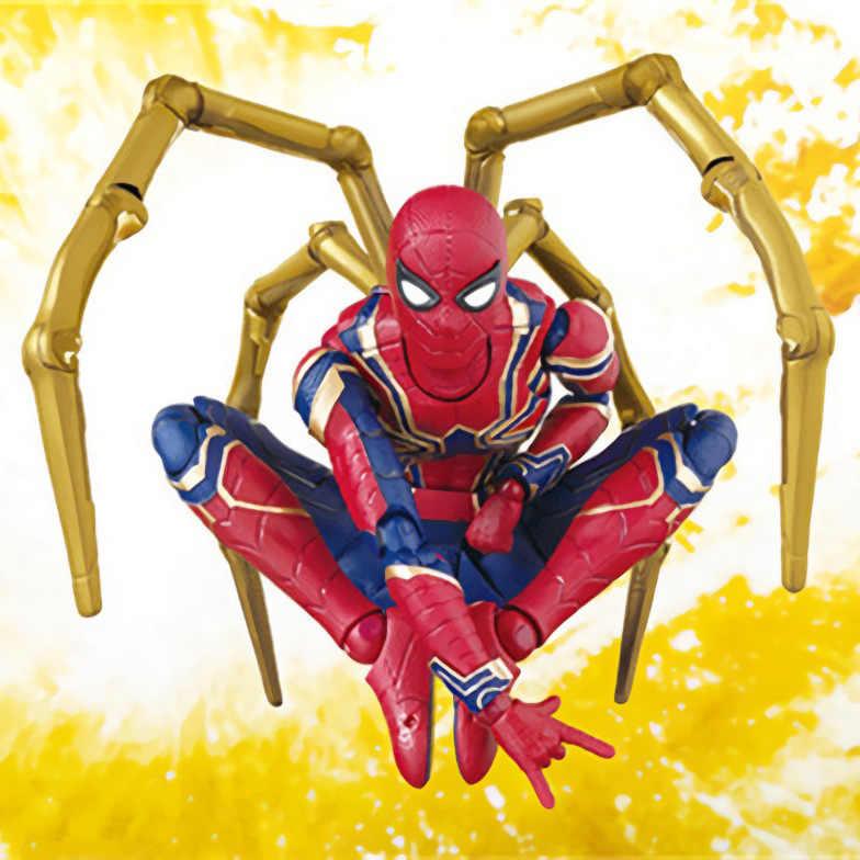 Vingadores Marvel 14 cm Luxo Infinito Guerra Ferro Spiderman PVC Action Figure Super hero Figuras do homem-Aranha Modelo Colecionável boneca