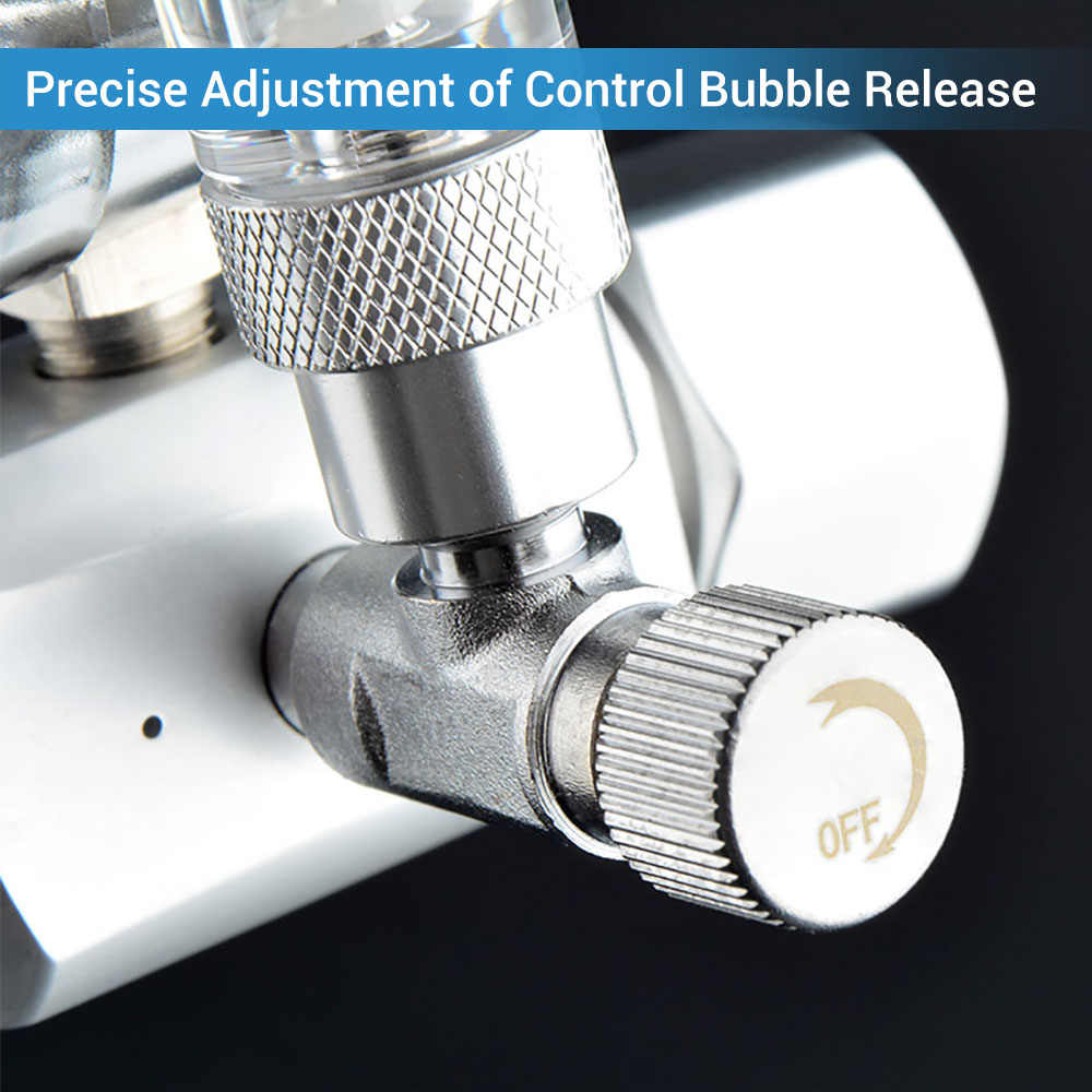 NICREW Aquarium CO2 Regulator วาล์วตรวจสอบ Bubble Counter แม่เหล็ก Solenoid วาล์ว Aquarium CO2 ความดันวาล์วลด