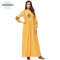 Dubai Abayas For Women Long Muslim Dress Embroidery Kaftan Turkish Robe Plus Size Bangladesh Islamic Clothing 4XL Maxi Dresses