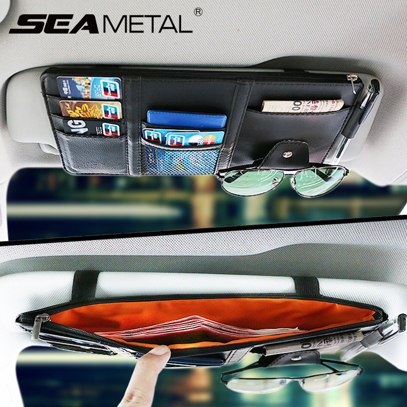 interior accessories car storage sun visor organizer auto