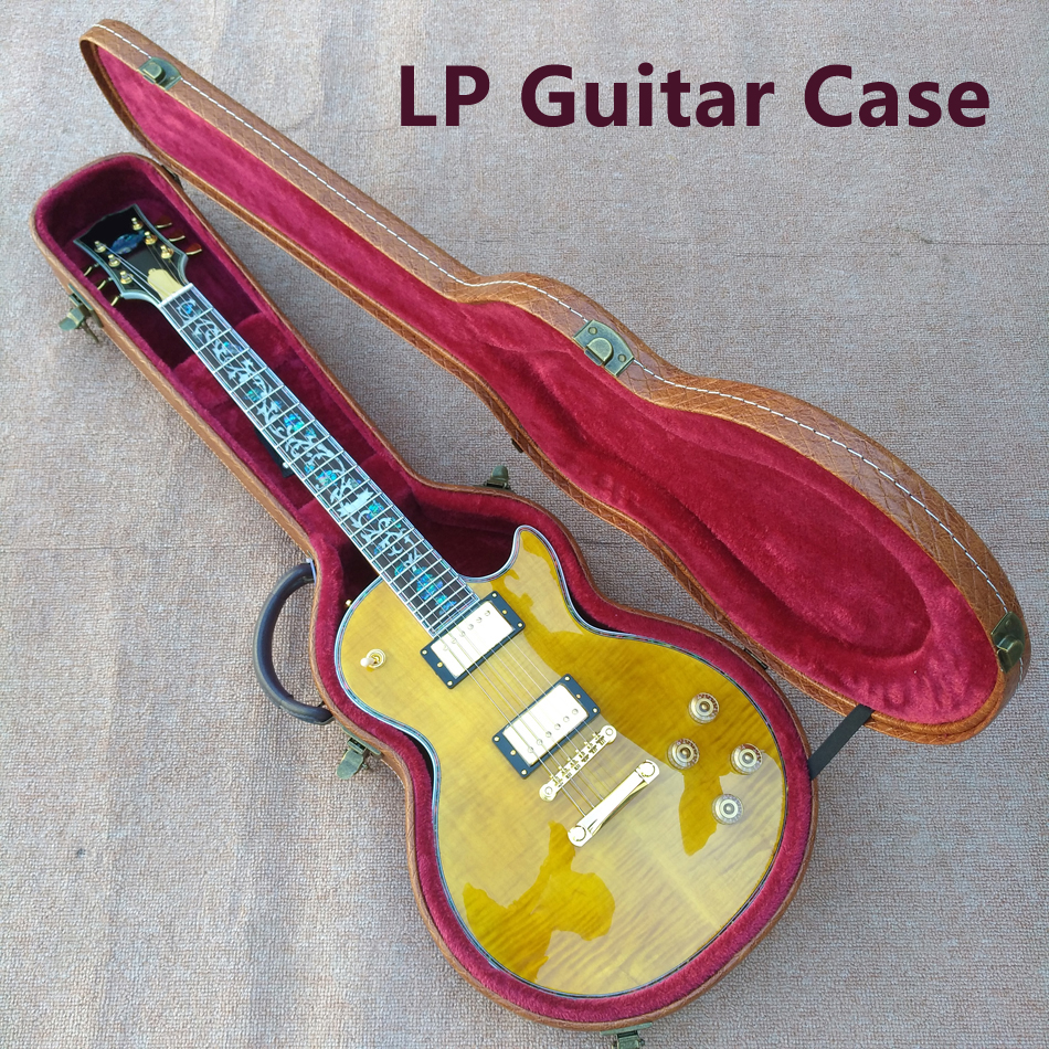 Electric Guitar Case Parts : new high quality custom lp electric guitar case lp 1959 r9 electric guitar case brown case ~ Russianpoet.info Haus und Dekorationen