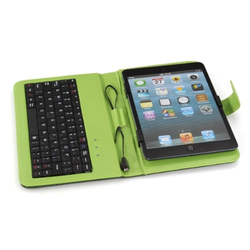 Vert Housse Keybaord Stand pour 7 pouce Micro USB Tablet MID