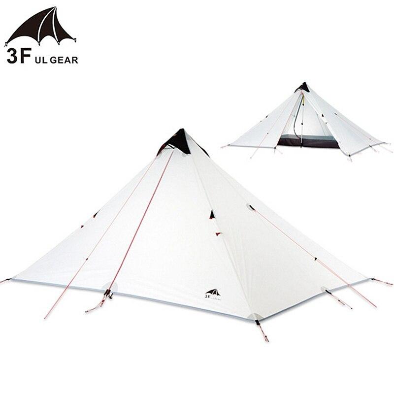 3F UL Gear 1 personne 15D Silnylon tente sans fil Oudoor ultra-légère tente de Camping 3 saisons professionnel Double couches tente étanche