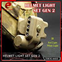 Element Airsoft Tactical GEN 2 lampka na kask biały czerwony IR Led Gen II kask latarka pasuje do 20mm Picatinny Rail czarny tan