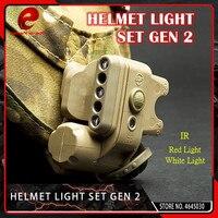 Element Airsoft Tactical GEN 2 HELMET LIGHT White Red IR Led Gen II Helmet Flashlight Fit 20mm Picatinny Rail Black Tan