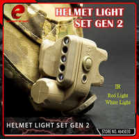 Táctico element airsoft GEN 2 casco Luz Blanca Roja IR Led Gen II casco linterna ajuste 20mm Picatinny Rail negro Tan
