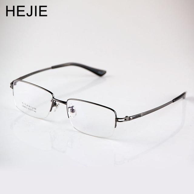 556792b752 Factory Price Men Pure Titanium Eyeglasses Frames Brand Half Frame Myopia  Optical Glasses Frames For Male