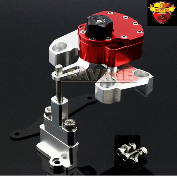 New Red Motorcycle Steering Damper Stabilizer with Mounting Bracket Kit For YAMAHA MT09 MT-09 2014-2015