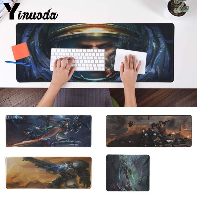 Yinuoda Starcraft 2 Game Keyboards Mat Rubber Mousepad Notebook Gamer Desk Mat Good Quality Locking Edge Large Gaming Mouse Pad