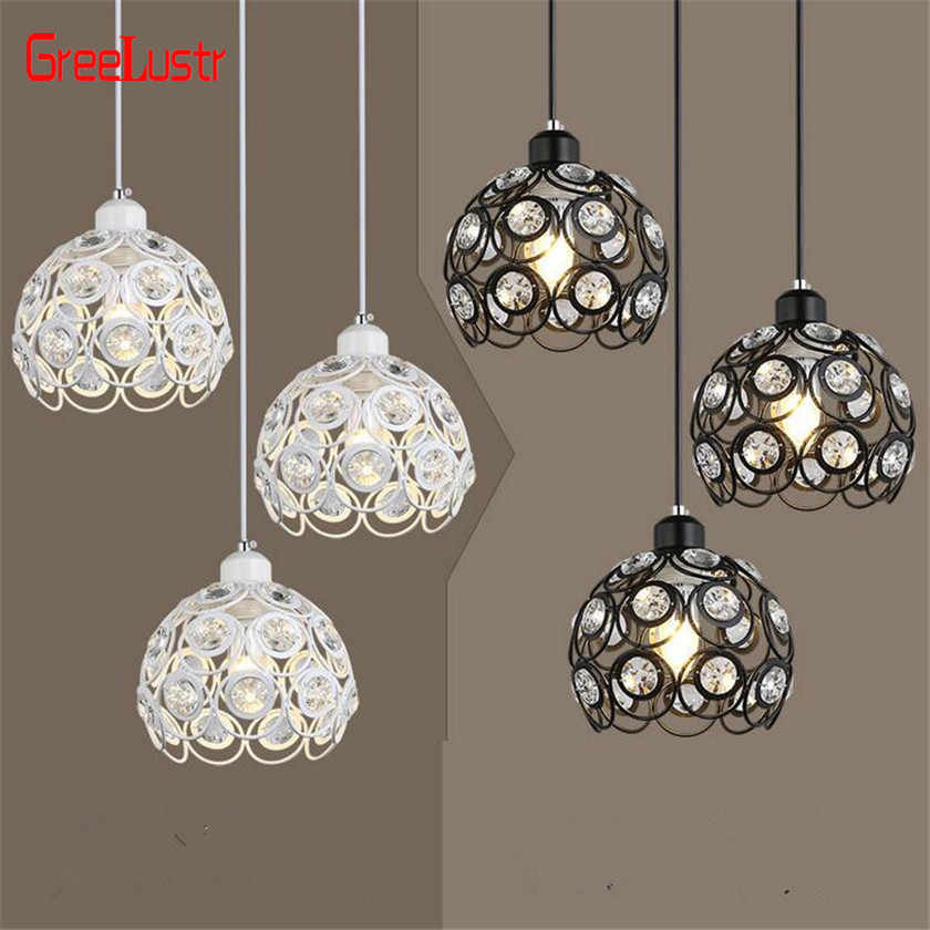 Modern Led Crystal Chandelier Lighting Hanging Lamp Suspension Luminaire Crystal Ball Lustres for Kitchen Light Fixtures