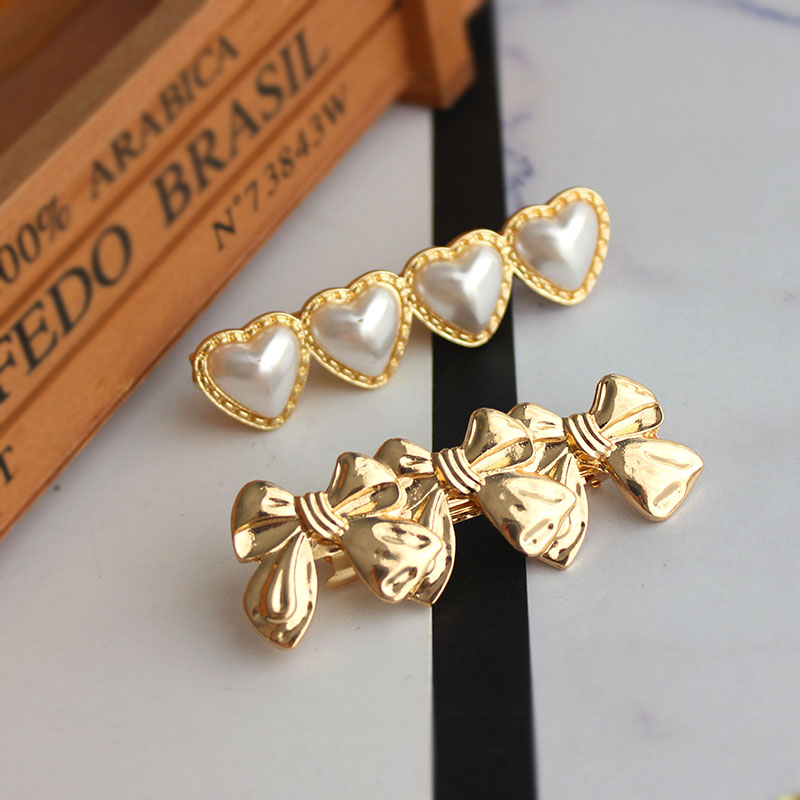 SANSUMMER 2019 Simple Versatile Love Pearl Butterfly Hairpin Knot Hair Accessories Metal Materia Women Accessories Hairwear 6381 in Hair Jewelry from Jewelry Accessories