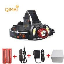 7000Lm Led lighting Head Lamp T6+2COB LED Headlamp Headlight Camping Hunting Light +2*18650 battery+Car EU/US/AU/UK charger