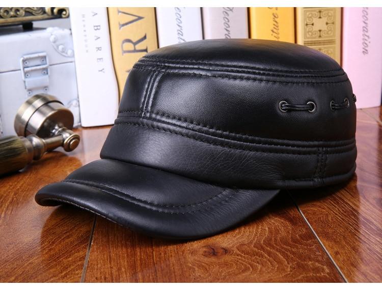 Sheepskin flat cap (5)