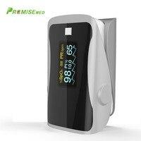 PRCMISEMED Household Health Monitors Pulse Oximeter ABS Silicone Sensor Equipment Finger Pulse Oximeter Portable Oximetro Grey