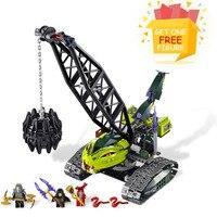 Trovão Espadachim Bela Legoe Pogo Compatível 9761 414 pcs Ninjagoe Fangpyre Wrecking Ball Blocos de Construção Tijolos brinquedos para crianças