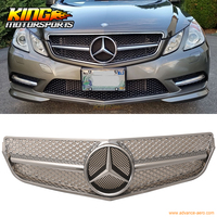 For 10 11 Benz A207 E Class SL Style Front Grille Silver ABS + Authentic Star Emblem USA Domestic Free Shipping Hot Selling