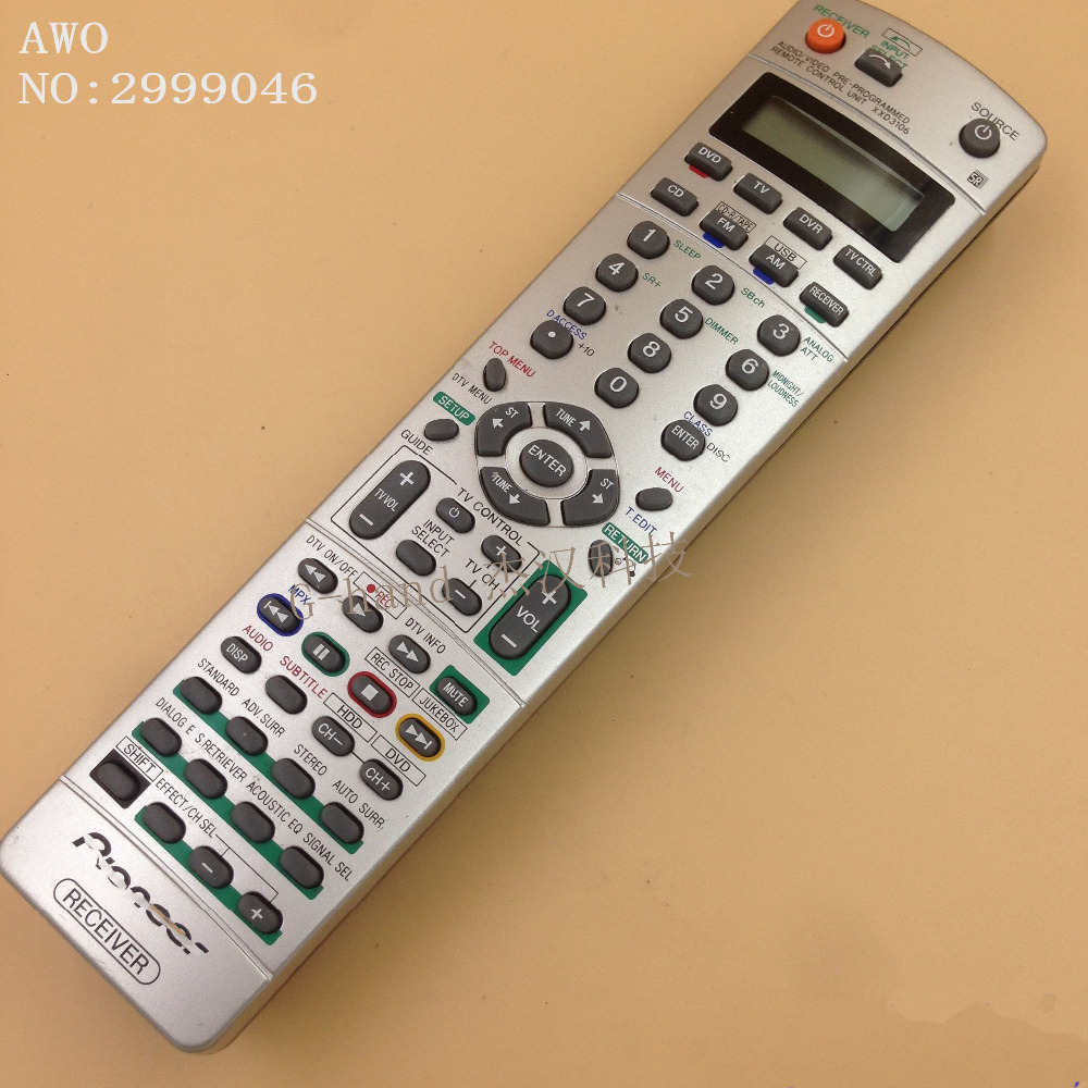 AWO REPLACEMENT AV power amp remote control FIT For Pioneer XXD3106 VSX-816 VSX-916 VSX-917 remote control 1pcs used original remote control for pioneer elite xxd3105 audio video remote control vsx917s vsx917vk vsx917 vsx917k
