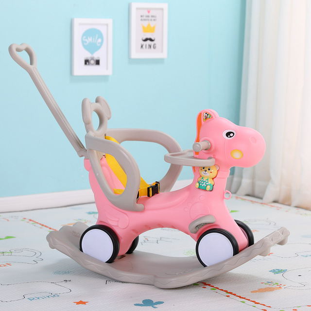 Baby Rocking Chair Baby Rocking Horse Wooden Multifunctional Musical Ride On Toys 1