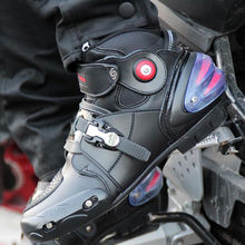 Brand Pro-biker Motorcycle Riding Breathable Boots Moto/Motocross Ankle Motorbike Biker Touring Bots Shoes for Men Women Summer