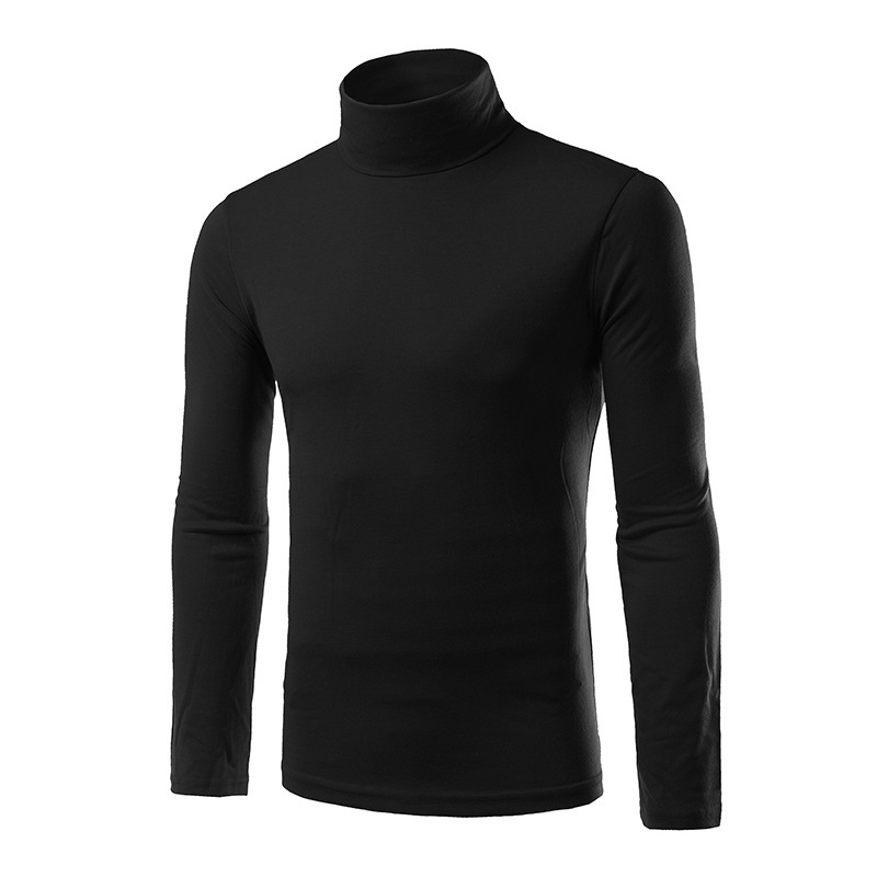 new trend turtleneck t shirt men tee shirt homme 2016 autumn fashion mens slim long sleeve. Black Bedroom Furniture Sets. Home Design Ideas