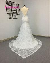Berta Bridal beaded spaghetti straps vestido de noiva sereia robe sexy 2016 lace backless mermaid wedding dress