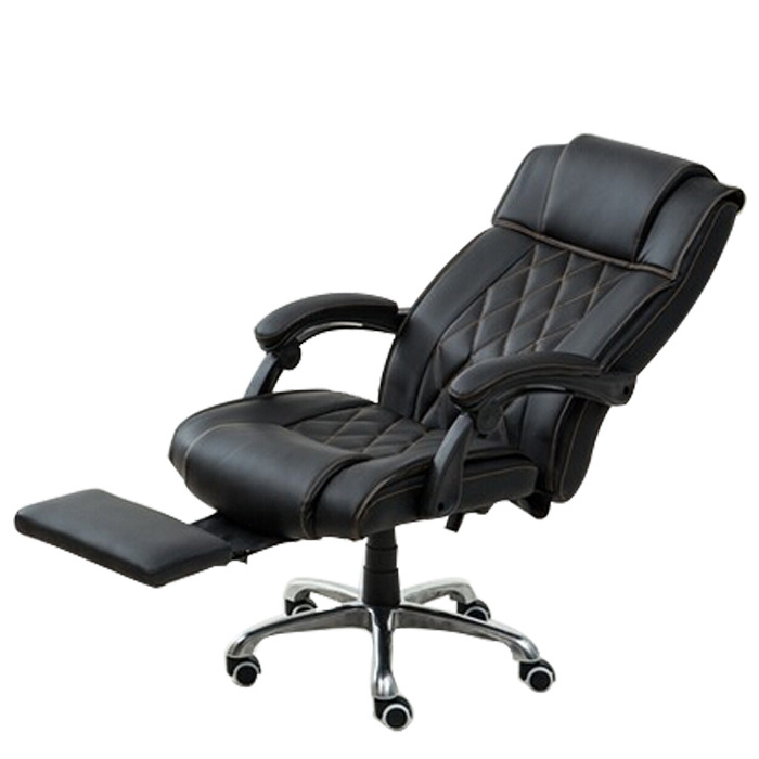 High Quality Modern Office Chair Ergonomic Leisure Lying Boss Computer Chair Soft Thicken Cushion Swivel Chair With Footrest 240335 computer chair household office chair ergonomic chair quality pu wheel 3d thick cushion high breathable mesh