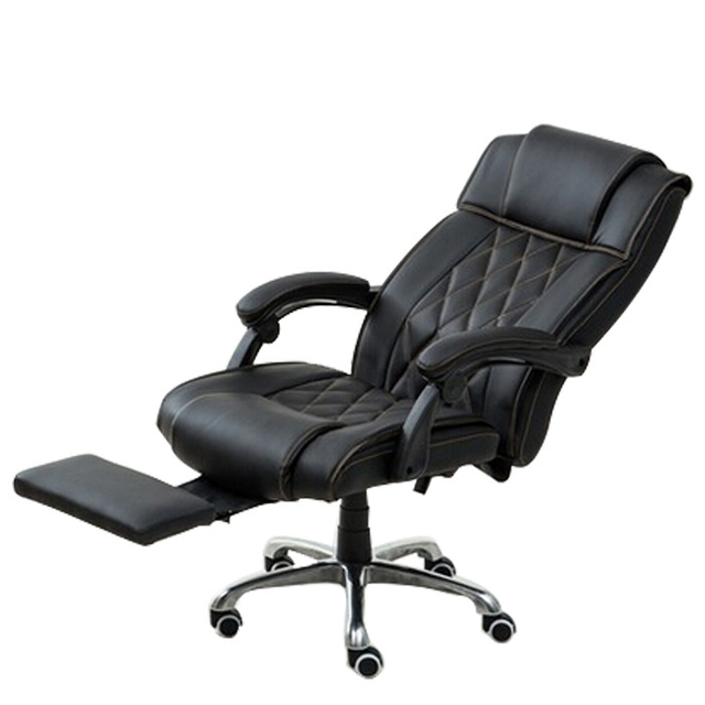 High Quality Modern Office Chair Ergonomic Leisure Lying Boss Computer Soft Thicken Cushion Swivel With Footrest
