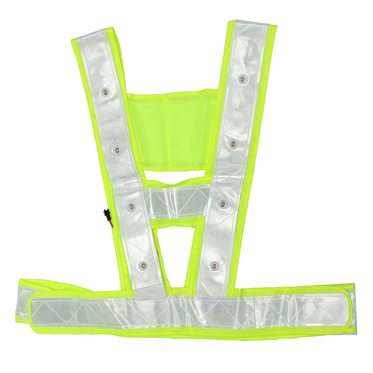 Safurance Cycling Running 16 LED Light Up Reflective Stripes Safety Vest High Visibility Workplace Safety Clothing