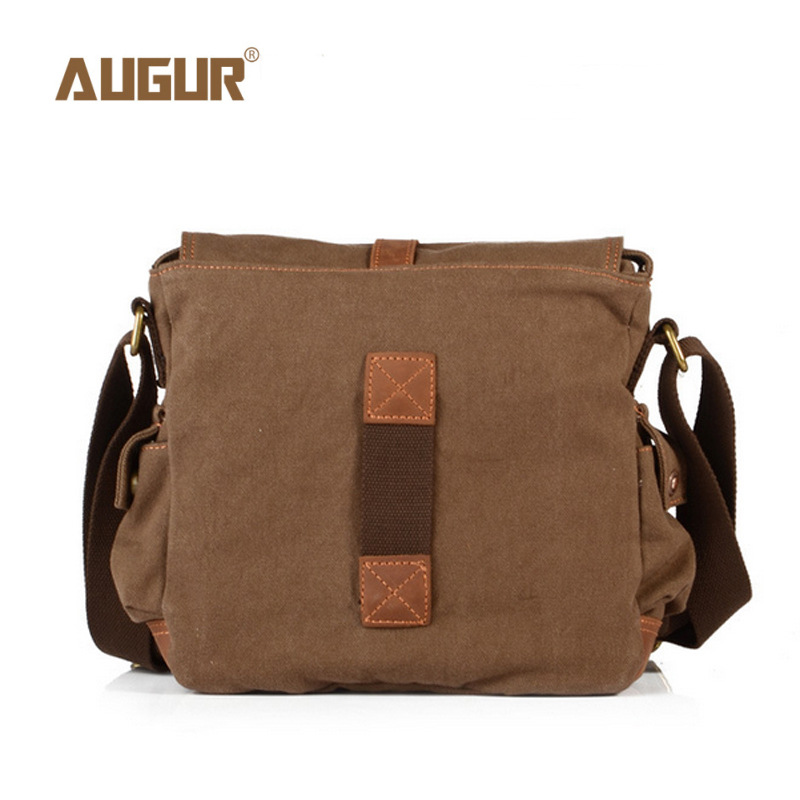 Image 5 - 2017 Canvas Leather Crossbody Bag Men Military Army Vintage Messenger Bags Large Shoulder Bag Casual Travel Bags-in Crossbody Bags from Luggage & Bags
