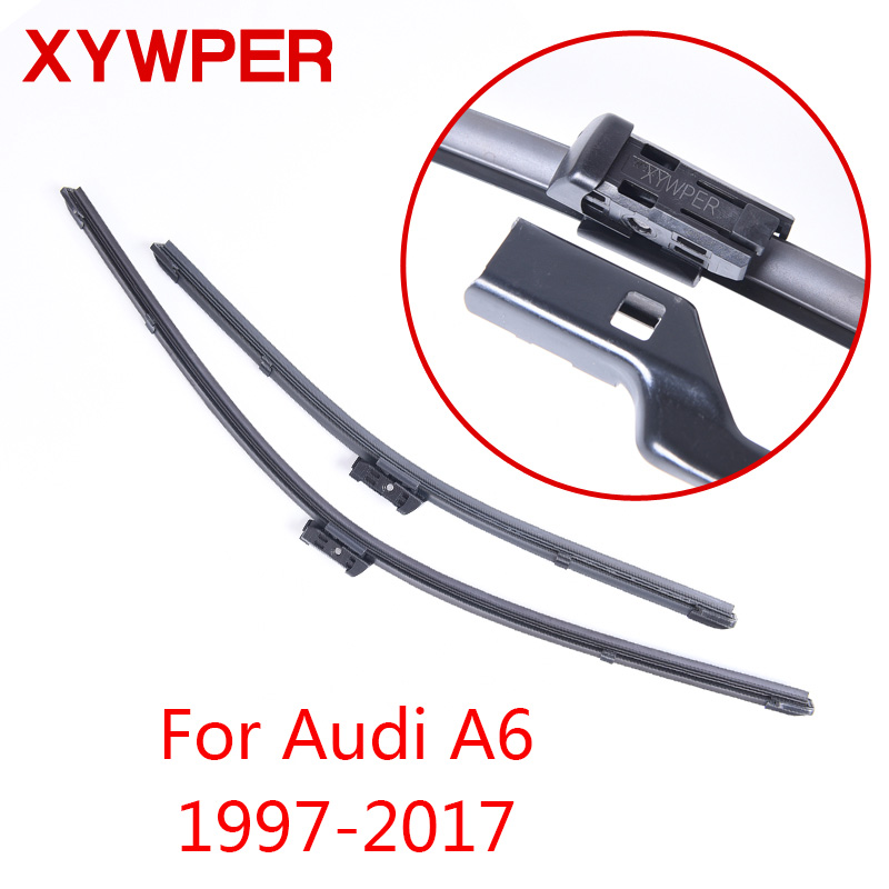 XYWPER Wiper Blades for Audi A6 C5 / C6 / C7 1997 1998 1999 2000-2017 Car Accessories Soft Rubber Car Windshield Wiper blades sumks wiper blades for honda insight 26