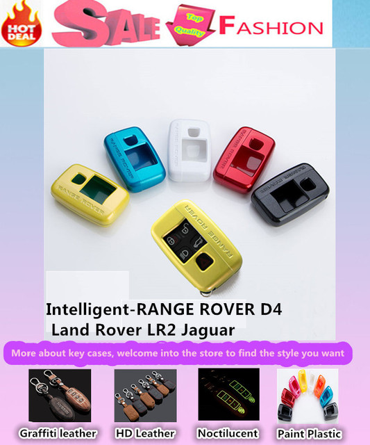 Car styling ABS Paint keys bag cases chain intelligent/fold for RANGE ROVER Discovery 3/4 Freelander 2 evoque Jaguar X/S/XJ type