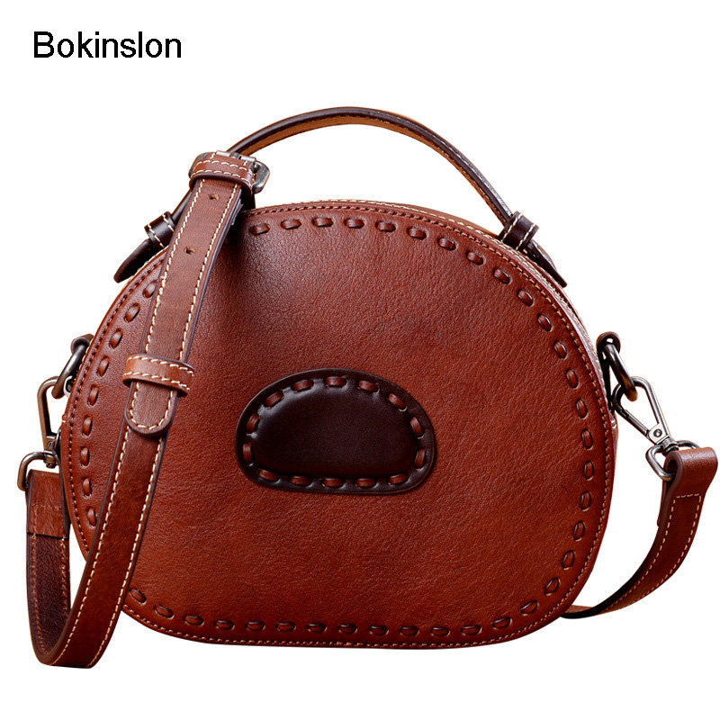 Bokinslon Woman Shoulder Bags New Retro PU Leather  Female Mini Handbags Fashion Solid Color Women Crossbody BagsBokinslon Woman Shoulder Bags New Retro PU Leather  Female Mini Handbags Fashion Solid Color Women Crossbody Bags