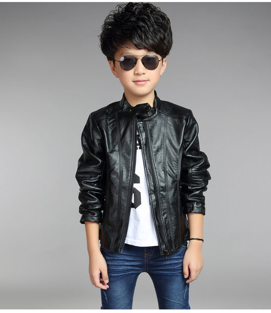 Toddler leather jacket