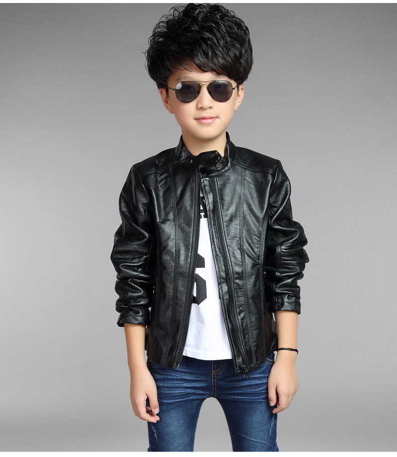 5e493e004 toddler leather jacket 2018 new baby boy jackets solid pu leather ...