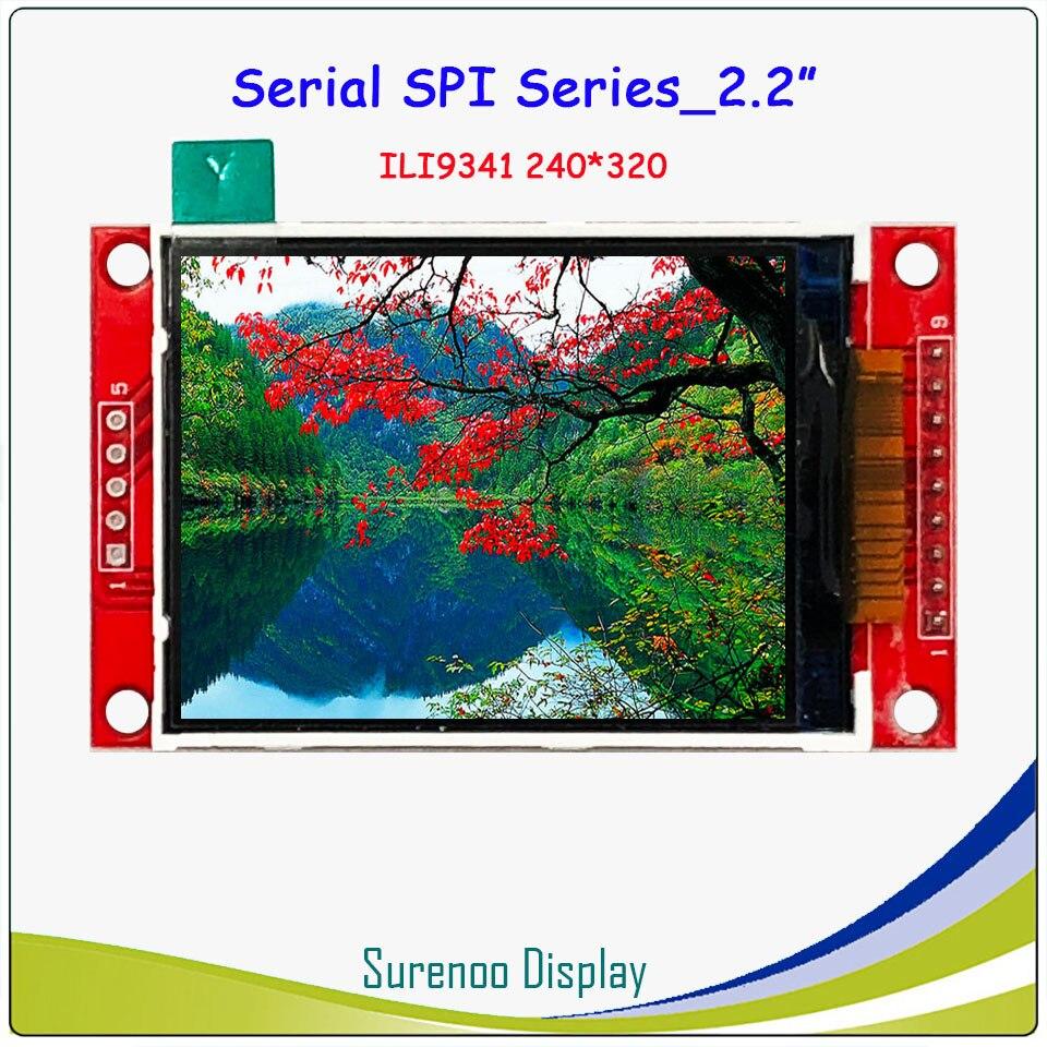 2.2 pollici 320*240 Seriale SPI TFT Modulo LCD Screen Display Driver IC ILI9341 per MCU senza Pannello A Sfioramento2.2 pollici 320*240 Seriale SPI TFT Modulo LCD Screen Display Driver IC ILI9341 per MCU senza Pannello A Sfioramento