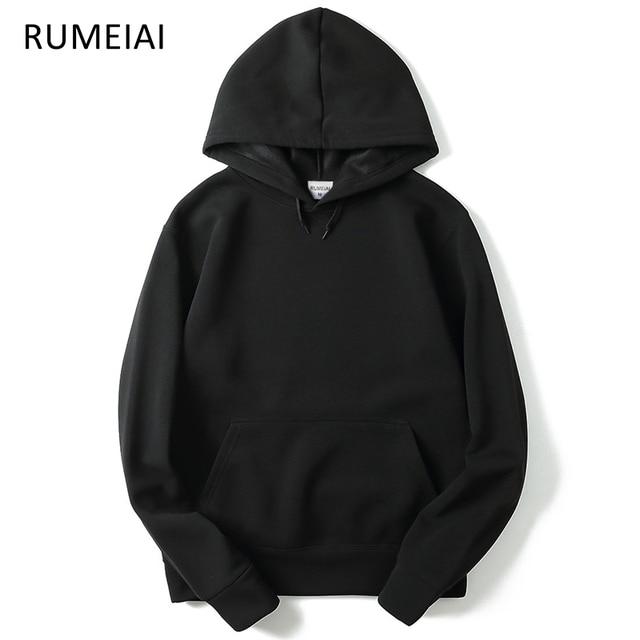 e4cd4105a8fe 2019 Autumn winter Hip Hop Sweatshirt Men s Hooded Black Fashion New Brand  Sweatshirt Men Hoodies Solid Casual Pullover Clothing