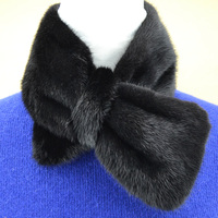 fur Bow tie women collar ladies neck ring fashion new design solid white black color scarf T11