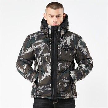 Plus Size M-4XL Winter New Casual Men Parka Hooded Fashion Camouflage Cotton Coat Long Men's Warm Jacket Pajamas Blousons