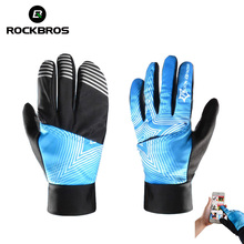 ROCKBROS Cycling MTB Bicycle Full Finger Gloves Winter Windproof Thermal Gloves Touch Screen Cover Full Waterproof