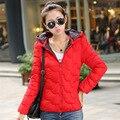 2016 chaqueta de algodón acolchado de Las Mujeres de la señora de down algodón chaqueta mujer delgada corto chaquetas y abrigos ropa de abrigo abrigo de invierno mujeres