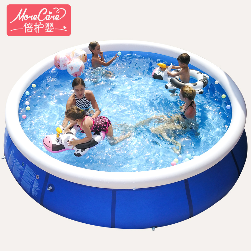 large family children adult children swimming <font><b>pool</b></font> <font><b>water</b></font> inflatable increase thickening large net swimming <font><b>pools</b></font> image