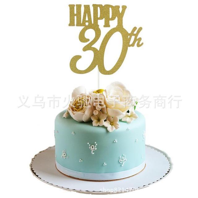 Happy 30th Birthday Cake Topper30th Anniversary TopperCustom Name Topper