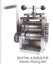 Electric hand operated rolling mill for jewelry making