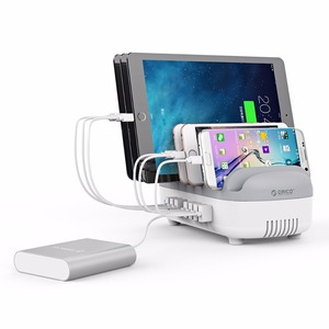 Image 5 - ORICO 10 Ports 120W Fast USB Charger Station Dock with Phone Holder 2.4A Quick Charging for Mobile Phone Tablet