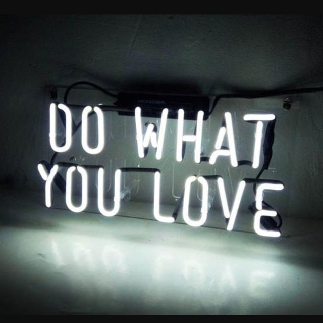 Custom DO WHAT YOU LOVE Blue White Red Pink Deep blue Purple Turquoise Green Yellow Glass Neon Light Beer Bar 1